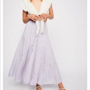 Free People x CP Shades Lily Linen Maxi  Skirt M